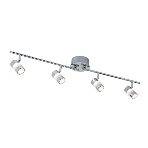 Searchlight Bubbles Ip44 Chrome 4 Led Adjustable Bar Spotlight. Bathroom Use.
