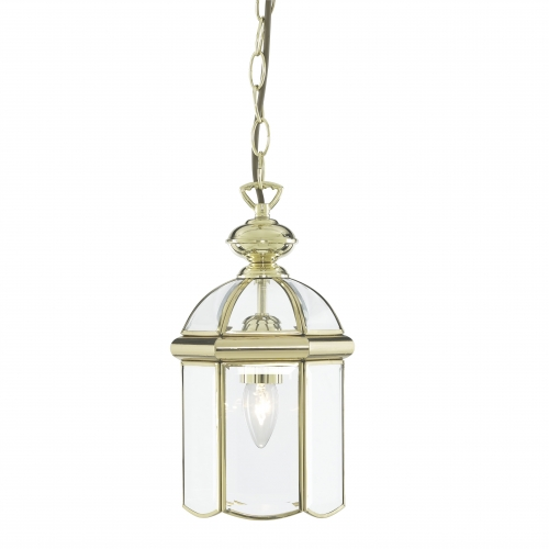 Searchlight Polished Brass Lantern With Bevelled Domed Glass Panels SALE ITEM
