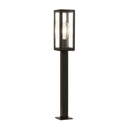 Searchlight Outdoor 1 Light Rectangle Head Post (90cm Height), Black