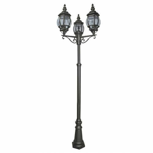 Searchlight Bel Aire 3 Lamp Post IP44 (Black)