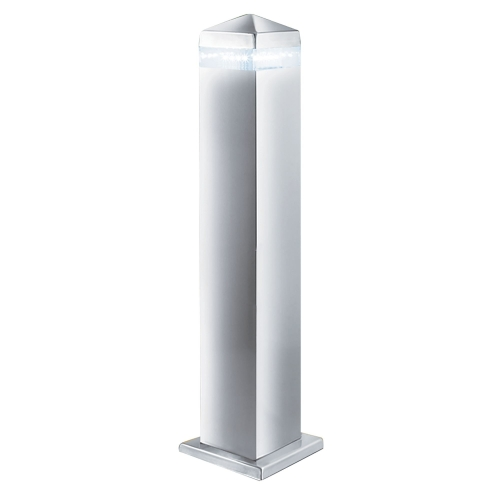 Searchlight Stainless Steel Ip44 Led Outdoor Post Light With Clear Diffuser