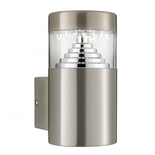 Searchlight Stainless Steel Ip44 30 Led Outdoor Wall Light With Clear Polycarbonate Diffuser