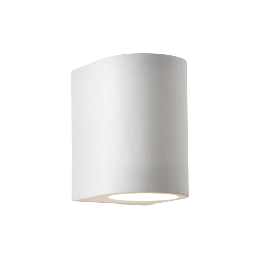 Searchlight White Plaster Curved Cylinder Light Paintable SALE ITEM