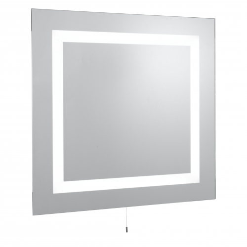 Searchlight Square Bathroom 4 Light Illuminated Mirror, Switched