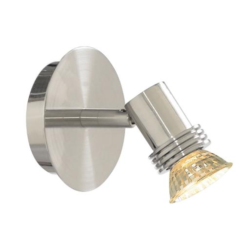 Searchlight Decco Satin Silver Circular Wall Spotlight (pack Of 6)