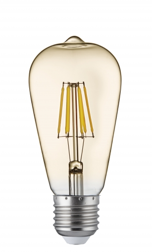 Searchlight Led Filament Bulbs E27 - 6w, Warm White (pack Of 5)