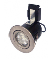 Robus Directional Pressed Steel Fire Rated DownLight (Brushed Chrome)