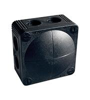 Wiska Combi Waterproof Junction Box (Black)